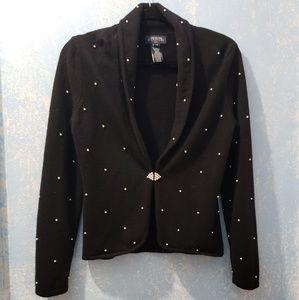 Jones New York Signature Black Sweater Size M P